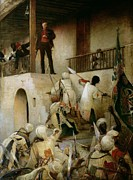 Arab Painting Framed Prints - General Gordons Last Stand Framed Print by George William Joy