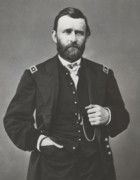 Military Photo Framed Prints - General Grant During The Civil War Framed Print by War Is Hell Store