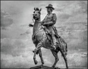 Regiment Digital Art - General Hancock Monument at Gettysburg Battlefield by Randy Steele