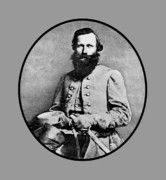 Military Framed Prints - General JEB Stuart Framed Print by War Is Hell Store