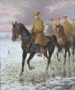 First World War Painting Metal Prints - General John J Pershing  Metal Print by Jan van Chelminski