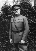 World War One Digital Art Metal Prints - General John J. Pershing Metal Print by War Is Hell Store