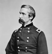 Round Framed Prints - General Joshua Chamberlain  Framed Print by War Is Hell Store