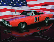 Car Show Framed Prints - General Lee Framed Print by Peter Piatt
