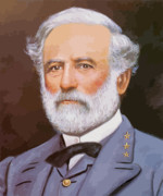 Civil Painting Prints - General Lee Print by War Is Hell Store