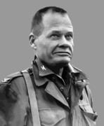 Marine Digital Art Metal Prints - General Lewis Chesty Puller Metal Print by War Is Hell Store
