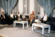 Bahrain Framed Prints - General Norman Schwarzkopf Visits Framed Print by Everett