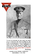 United States Government Mixed Media Posters - General Pershing United War Works Campaign Poster by War Is Hell Store
