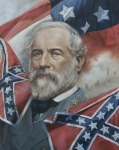 Rebel Paintings - General Robert E Lee by Linda Eades Blackburn