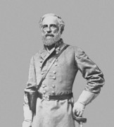 Southern Digital Art Prints - General Robert E Lee Print by War Is Hell Store