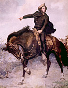Horseback Photos - General Sam Houston At The Battle by Everett