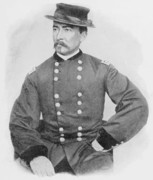 Cavalry Paintings - General Sheridan Civil War Portrait by War Is Hell Store