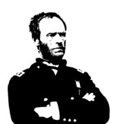 Leaders Digital Art Posters - General Sherman Poster by War Is Hell Store