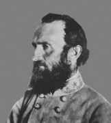 Military Photo Framed Prints - General Stonewall Jackson Framed Print by War Is Hell Store