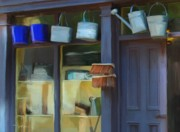 Pails Prints - general store Bunratty Ireland Print by Bob Salo