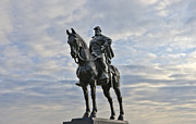 Stonewall Framed Prints - General Thomas - Stonewall - Jackson statue at Manassas National Battlefield Park - Virginia Framed Print by Brendan Reals