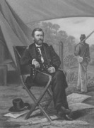Civil War Drawings - General U.S. Grant by War Is Hell Store