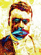 Mexican Revolution Framed Prints - General Zapata Framed Print by Juan Jose Espinoza