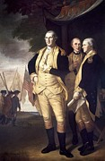 American Revolution Framed Prints - Generals At Yorktown, 1781 Framed Print by Granger