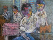 Figures Pastels - Generations by Marwan George Khoury