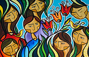 Family Paintings - Generations by Mary Tere Perez