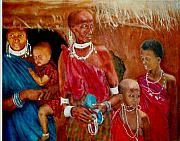 Maasai Painting Originals - Generations3 by G Cuffia