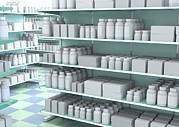 Generic Photos - Generic Medicines On Shelves, Artwork by David Mack