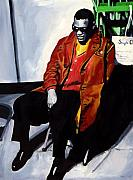 Ray Charles Prints - Genius Print by Vel Verrept