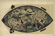 Genoa Framed Prints - Genoese World Map, 1450 Framed Print by Library Of Congress, Geography And Map Division