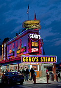 Phila Framed Prints - Genos Steaks Framed Print by John Greim