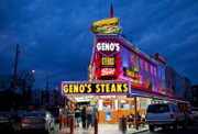 Philadelphia Photo Prints - Genos Steaks South Philly Print by John Greim