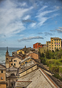 Genoa Digital Art Prints - Genova Apartments Print by Sharon Foster