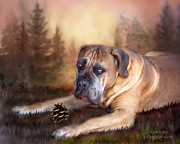 Canine Mixed Media Framed Prints - Gentle Ben Framed Print by Carol Cavalaris