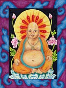 Devotional Mixed Media - Gentle Buddha by Suzan  Sommers