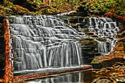 Pa State Parks Photos - Gentle Cascades by Adam Jewell