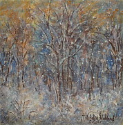 Project Painting Prints - Gentle Snow Print by Natalie Holland