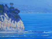 Southern California Paintings - Gentle Surf at Point Dume by Elena Roche