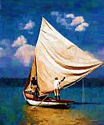 Haitian Paintings - Gentle Winds by Diane E Berry