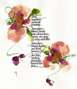 Love Poem Drawings - Gently by Darlene Flood