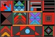 Rhythms Prints - Geometric 2 Print by Vilas Malankar