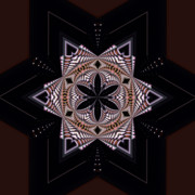 Kaleidoscope Art - Geometric Kaleidoscope by Laura Mountainspring