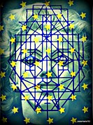Ideal Mixed Media Posters - Geometrized Mask Poster by Paulo Zerbato