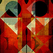Geometric Abstract Art Framed Prints - Geomix-04 - 39c3at22g Framed Print by Variance Collections