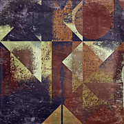 Brown Abstract Digital Art Prints - Geomix 04 - 6ac8bv2t7c Print by Variance Collections