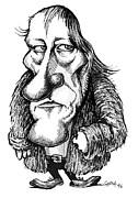 Human Intellect Prints - Georg Hegel, Caricature Print by Gary Brown