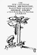 Microscope Framed Prints - George Adams new Universal Single Microscope. Framed Print by Dr Jeremy Burgess
