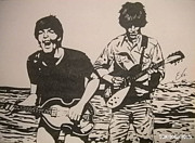 Mccartney Drawings - George and Paul by Tokiiolicious