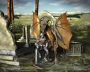 Wales Digital Art - George and the Dragon by John Quigley