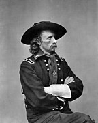 1860s Framed Prints - George Armstrong Custer, U.s. Army Framed Print by Everett