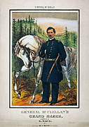 Brinton Framed Prints - GEORGE B. McCLELLAN, 1864 Framed Print by Granger